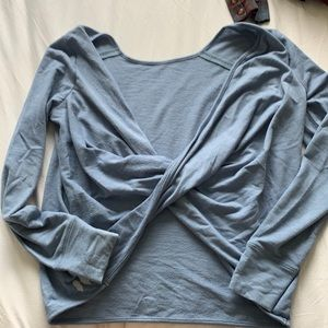 Twist back soft long sleeve